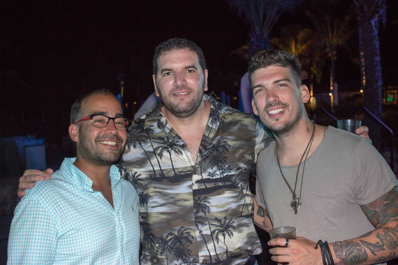 Sebastian Muñoz, Christian Correa y Guille Preda
