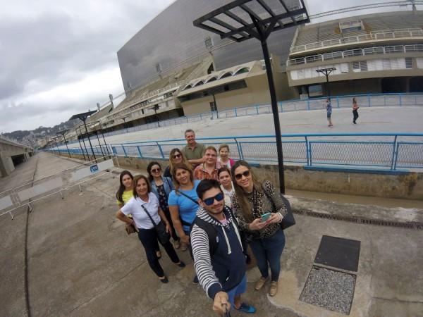 Grupo en el Sambodromo de Rio de Janeiro