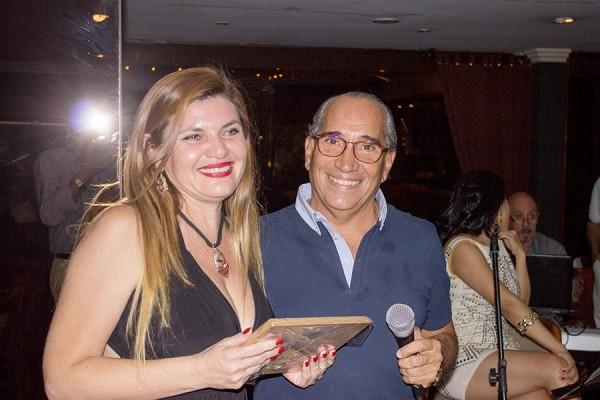 Mónica Campuzano, de Latam Airlines y Ricardo Felippo