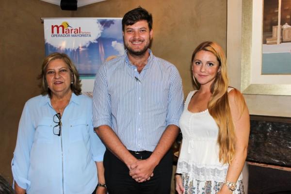 Ofelia y Jose Carlos Brunetti con Bárbara Roddick