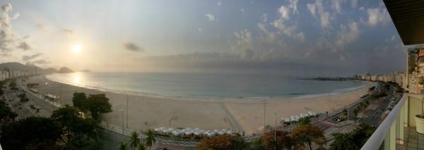 Panoramica de la playa de Copacabana