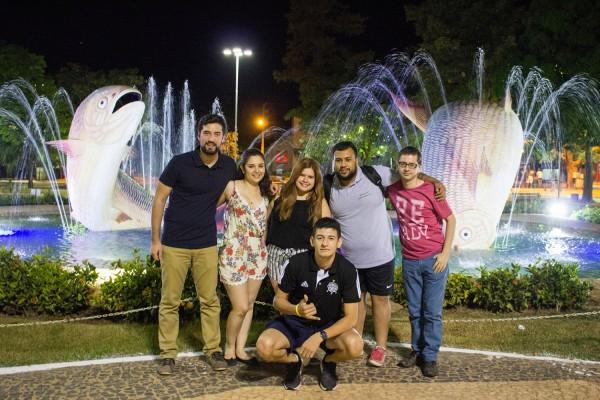 Parte del grupo en la Plaza de la Libertad, Bonito
