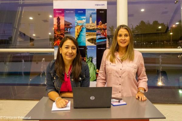 Rosa Gonzalez y Monica Zavan de Copa Airlines