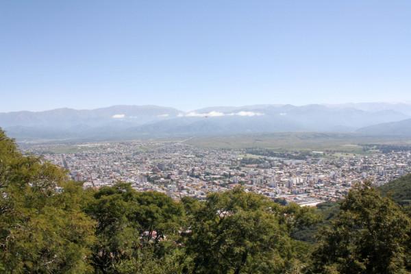 Vista de la ciudad desde la cumbre del Cerro San Bernardo
