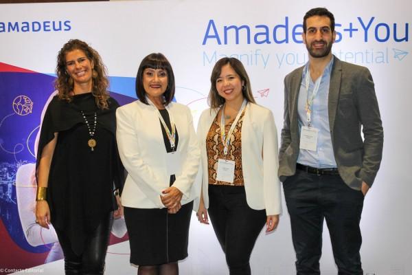 Macarena Duque, Johanna Izquierdo, Carolina Pons y Fernando Evazian