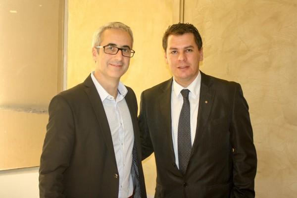 Horacio Chialvo y Alberto Bareiro de Delfos