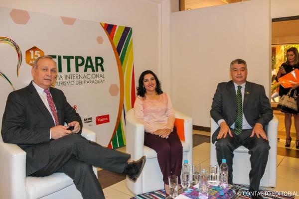 Mario Ferreiro, Sofia Montiel y Osvaldo Morinigo