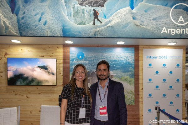 Romina Diaz y Alexis Simunovic, Secretario de Turismo de El Calafate