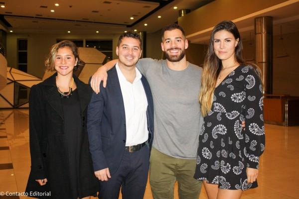 Bianca, Joaquin, Renato Prono y Alba Riquelme