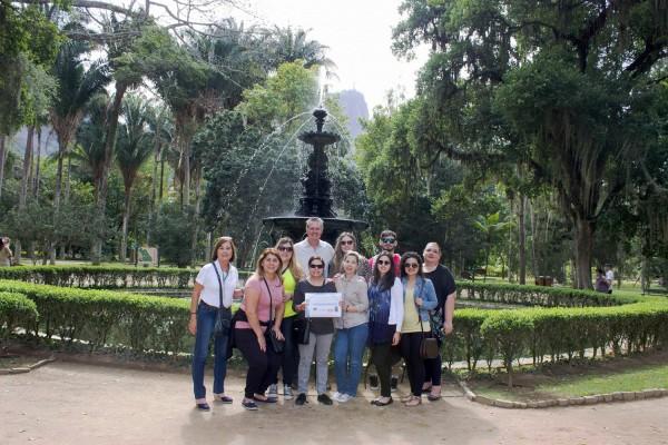 Grupo en el Jardin Botanico de Rio de Janeiro