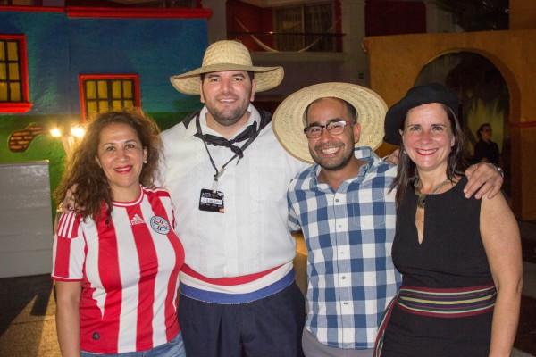 Maria Lis Bernal, Christian Correa, Sebastian Muñoz y Josefina de Zan