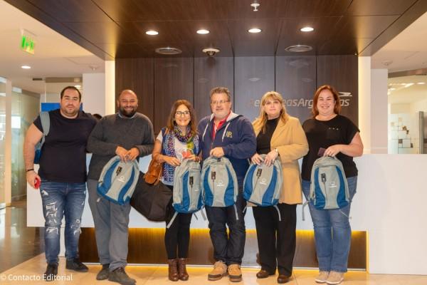 Matias Escalona, Martin Loperena, Milca Silva, Luis Cardozo, Graciela Laratro y Gily Segovia