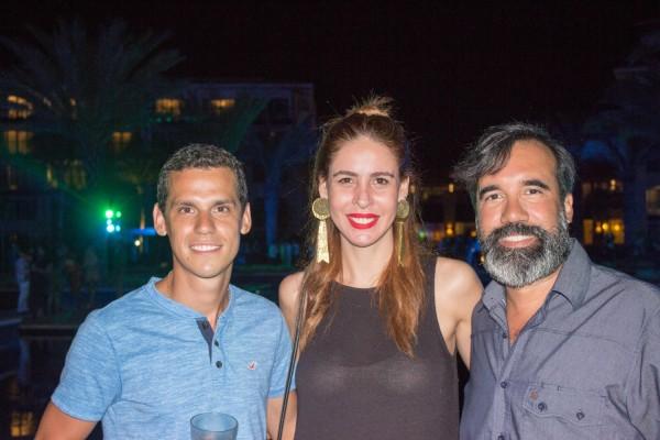 Carlos Pavon, Lara Tomassi y Alejandro Ocampos