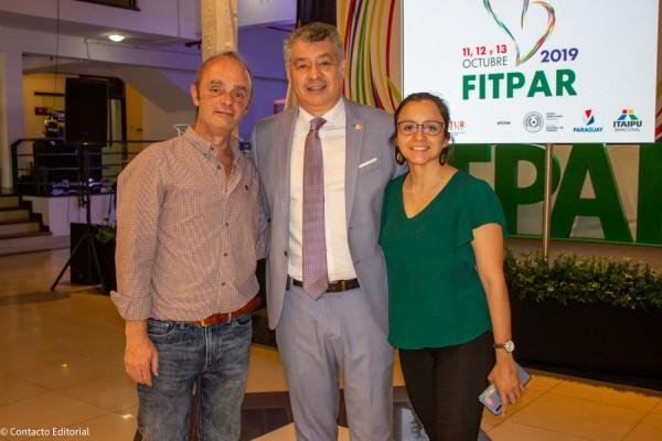 Guillermo Pontoriero, Osvaldo Morinigo y Claudia Cano