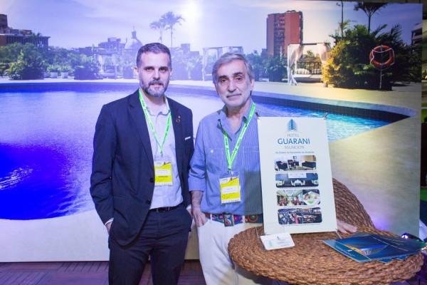 Fausto Guarneri y Jorge Juri del hotel Guarani Asunción