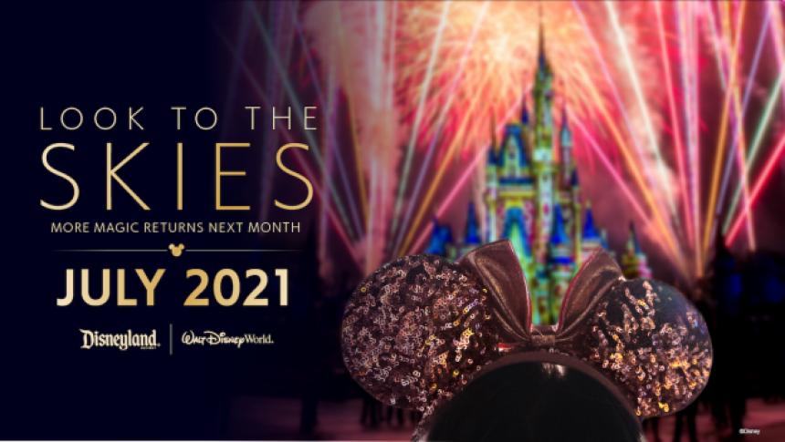 Disney reanudará los shows con fuegos artificiales en sus parques de Orlando