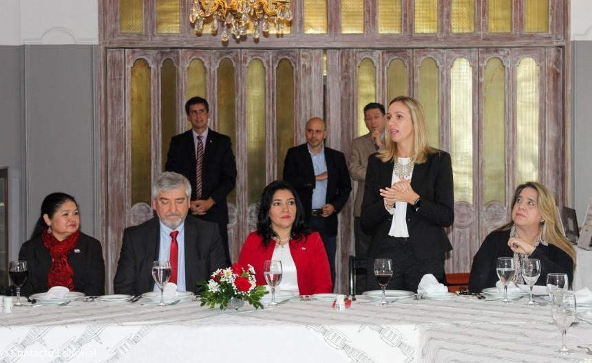 Cecilia Cartes, durante el lanzamiento