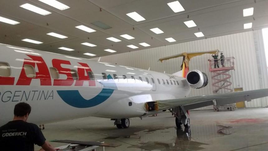 Avión de la aerolinea LASA