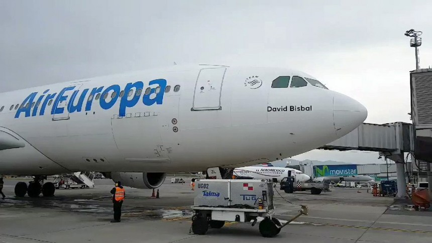 Avión David Bisbal de Air Europa