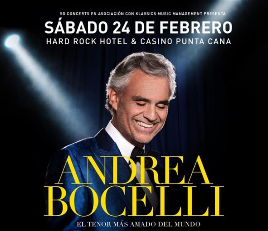 Andrea Bocelli se presentará en el Hard Rock Hotel & Casino Punta Cana
