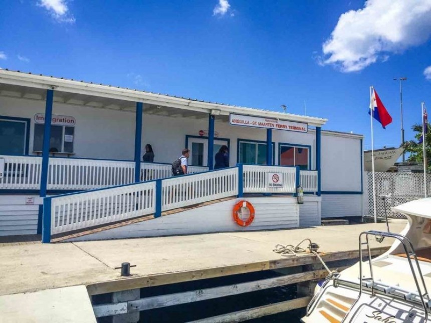 Puesto del Ferry en Anguilla