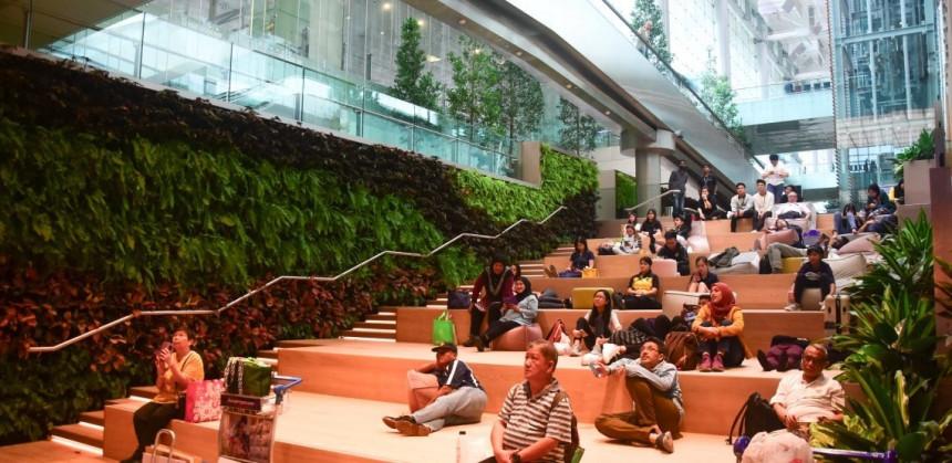 Area de descanso del aeropuerto de Changi