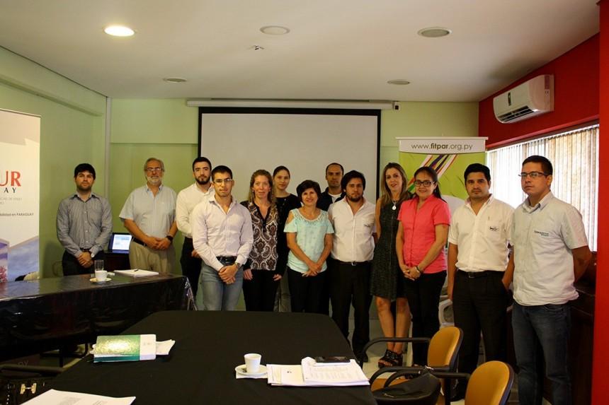 Participantes de uno de los grupos de capacitación