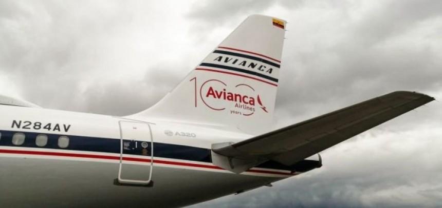 Avión conmemorativo por los 100 años de Avianca