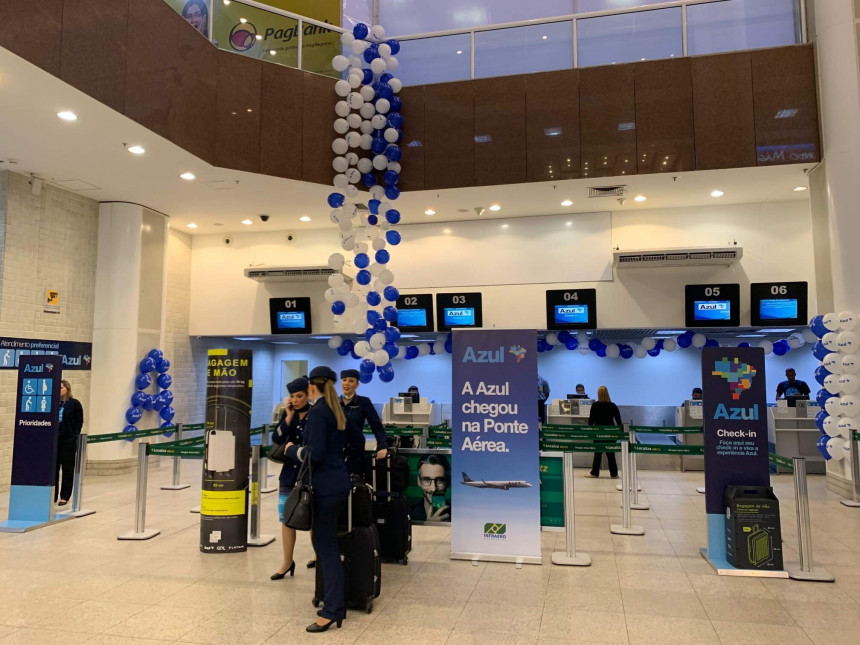 En Brasil, Azul estrena puente aéreo y 34 vuelos diarios