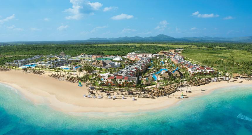 Vista aérea del Breathless Punta Cana