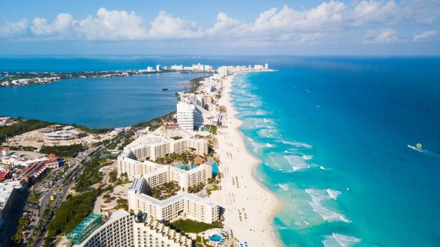 Imagen aérea de Cancún