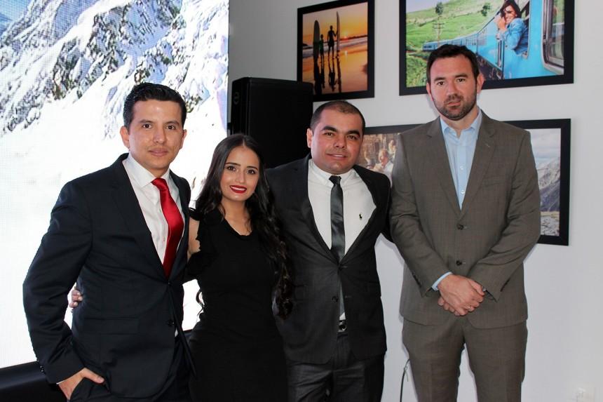 Eduardo Meneses, Leydy Plata, Jose Angel Meneses y Juan Pablo Miranda