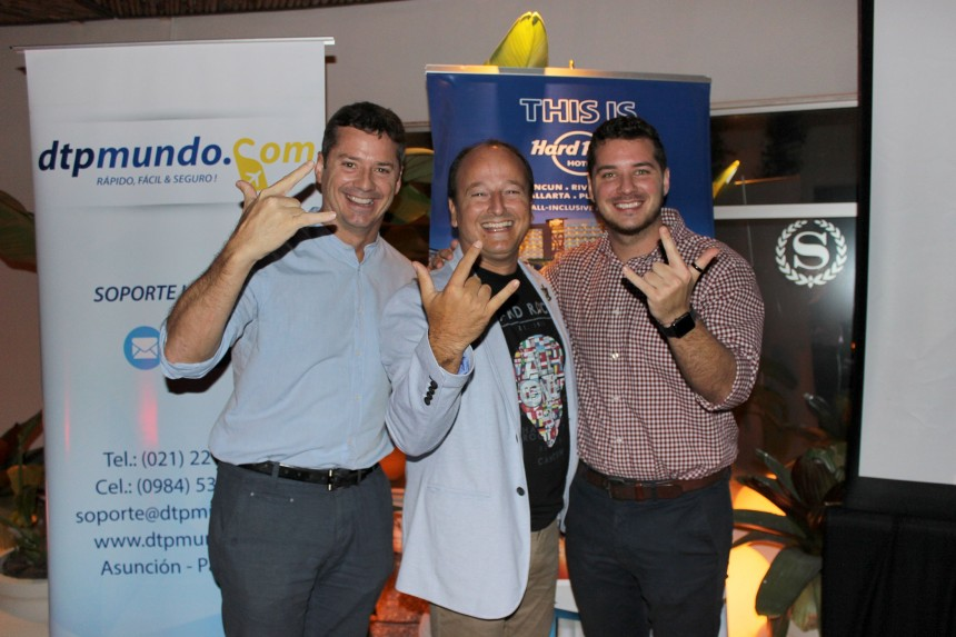 David Prono, Mario Traverso y Joaquin Prono
