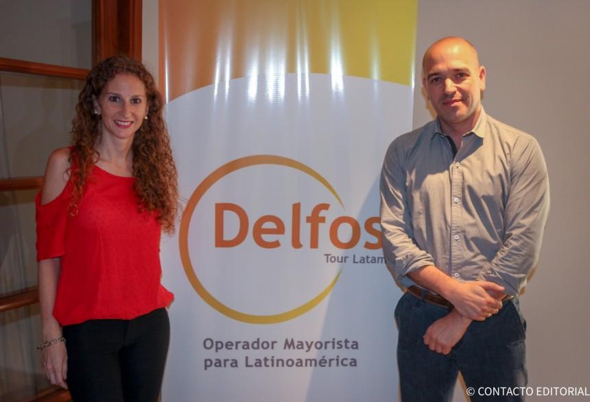 Luciana Scarlato y Juan Pablo Manzi, ejecutivos de Delfos