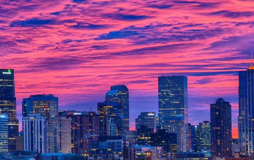 Atardecer en Denver, Colorado