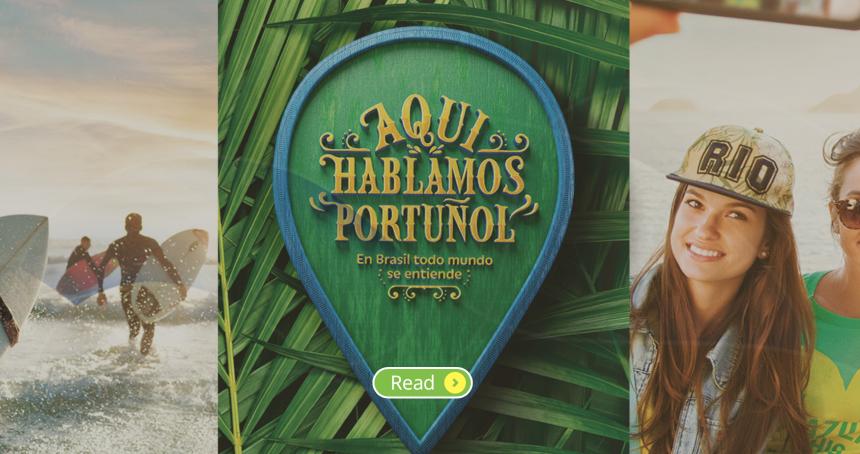 El portuñol es el idioma del verano brasileño