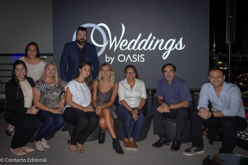 Ejecutivos de miembros de Copa Vacations con Oasis Resorts