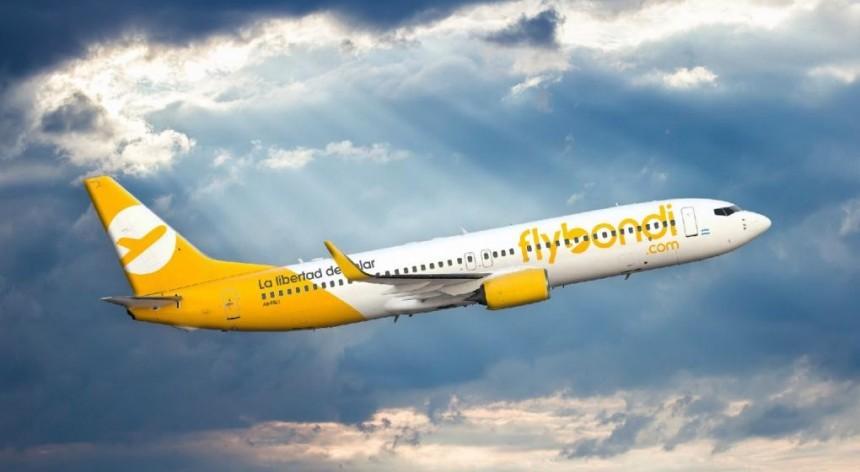 Flybondi solicitó autorización para operar 284 rutas