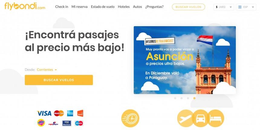 Flybondi promociona inicio de operaciones en Paraguay