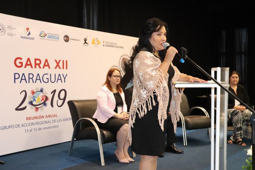 La ministra Sofia Montiel en Gara