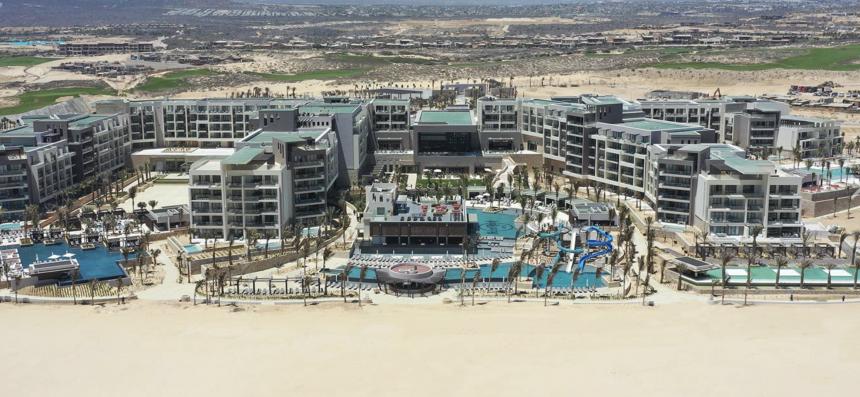 Vista aérea del Hard Rock Hotel Los Cabos