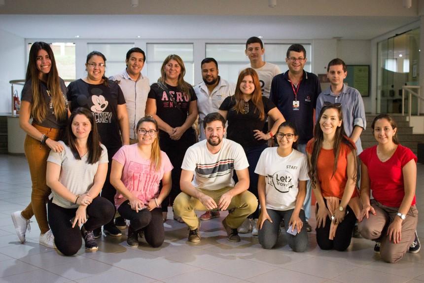 El grupo en el Museu das Culturas Dom Bosco