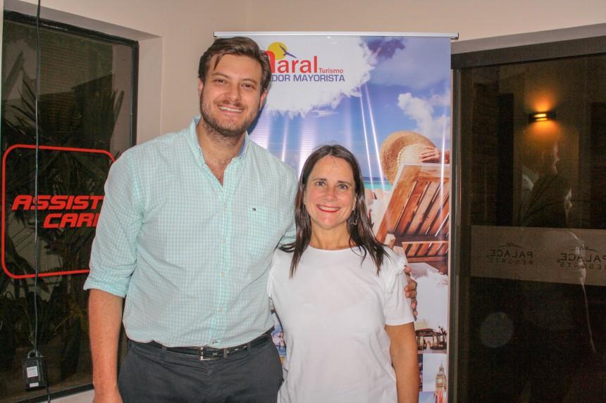 Jose Carlos Brunetti, director comercial de Maral Turismo y Josefina de Zan, ejecutiva comercial de la compañía hotelera