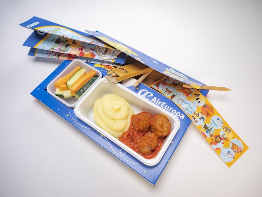 Menu para niños de Air Europa