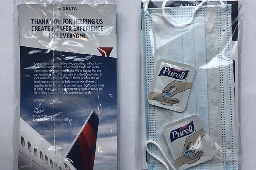 Delta distribuirá kit de cuidado personal a los pasajeros