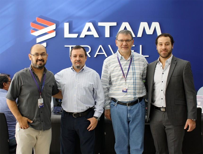 Blas Ramon, Enrique Alcaide, Luis Galeano y Enzo Pangrazio