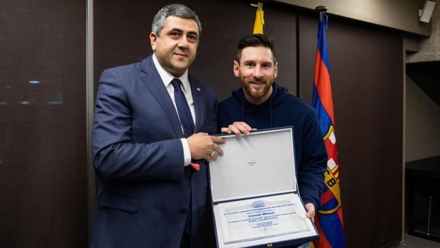 Zurab Pololikashvili y Lionel Messi