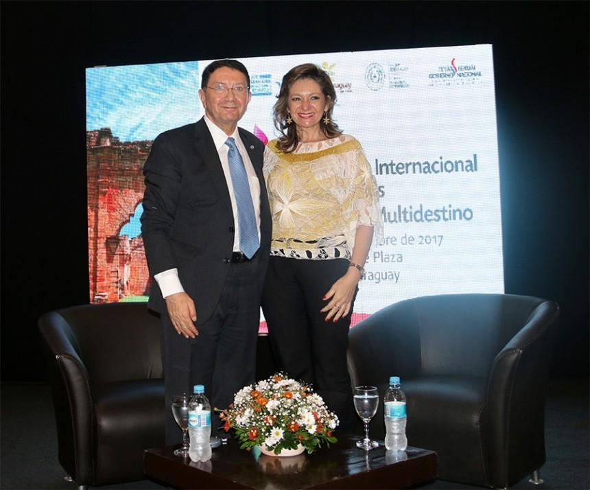 Taleb Rifai y Marcela Bacigalupo