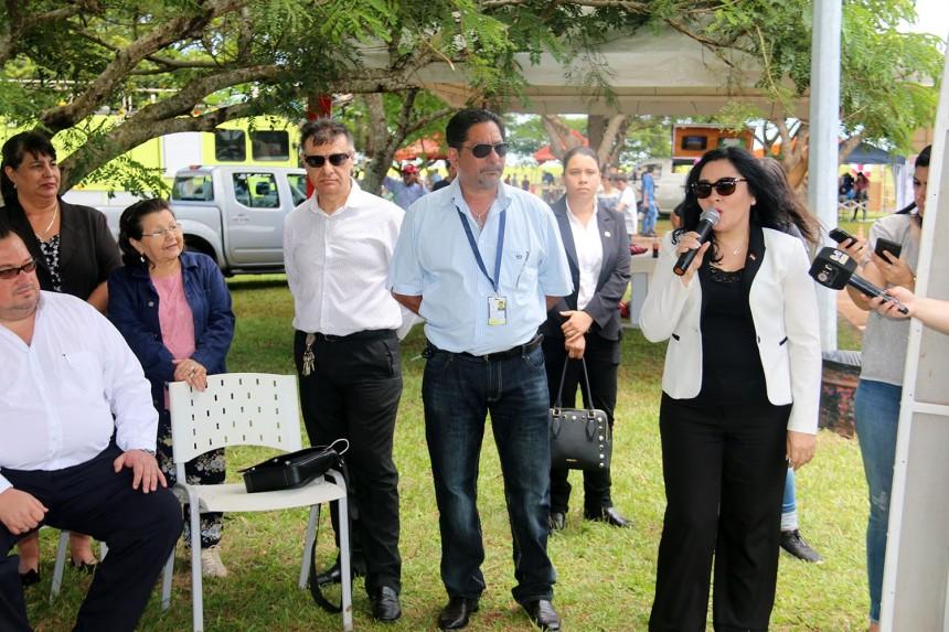 Ministra de Turismo Sofia Afara en el AGT