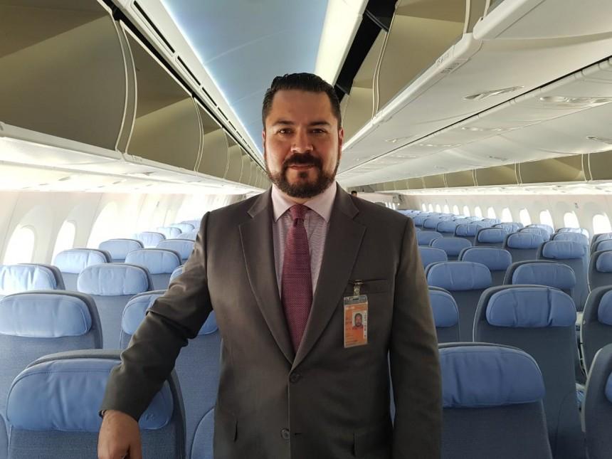 Olavi Linkola a bordo del Boeing 787-9 Dreamliner de Air Europa